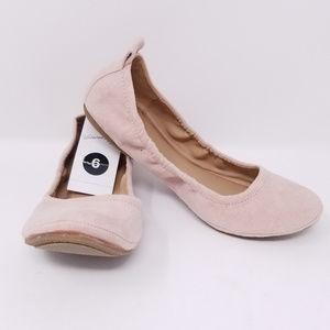 Women's Delaney Microsuede Round Toe Ballet Flats